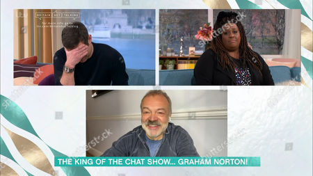 Dermot O'Leary, Alison Hammond abd Graham Norton