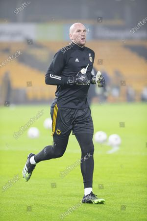 Wolverhampton Wanderers Goalkeeper John Ruddy warming up on the pitch before the match; Molineux Stadium, Wolverhampton, West Midlands, England; English FA Cup Football, Wolverhampton Wanderers versus Crystal Palace.