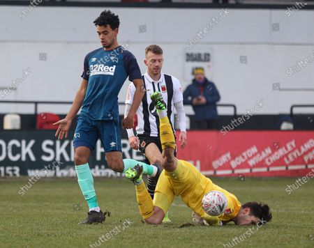 Editorial image of Chorley v Derby County, Emirates FA Cup, Third Round, Football, Victory Park, Chorley, UK - 9 Jan 2021