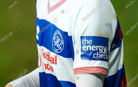 The Energy Check sleeve patch on the arm of Tom Carroll of QPR