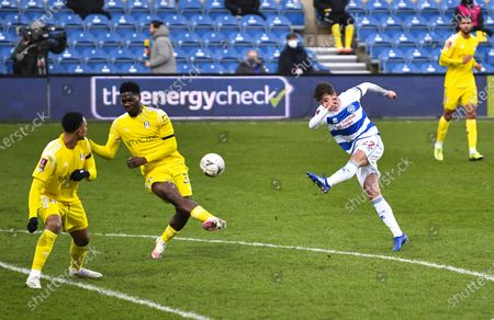Tom Carroll of QPR with a shot on goal