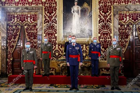 King Felipe VI of Spain grants audience to divisional generals and vice-admirals, Madrid