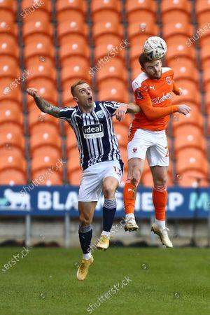 West Brom's Kamil Grosicki and Blackpool's Oliver Turton
