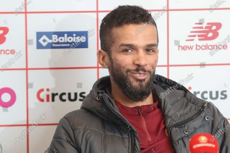 Standard's Mehdi Carcela pictured during a press conference of Belgian soccer team Standard de Liege, ahead of Jupiler Pro League advanced day thirty, Friday 08 January 2021 in Liege.