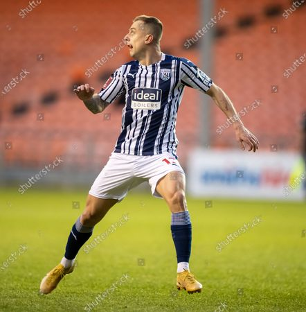 Kamil Grosicki of West Bromwich Albion in full flight; Bloomfield Road, Blackpool, Lancashire, England; English FA Cup Football, Blackpool versus West Bromwich Albion.