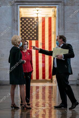 Editorial image of Nancy Pelosi interview by 60 Minutes correspondent, Leslie Stahl, Washington DC, USA - 08 Jan 2021