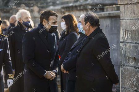 Emmanuel Macron, Francois Hollande