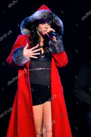 Jadyn Douglas (previously known as Jadyn Maria) performs during Macy's Glamorama held at the Chicago Theater in Chicago, IL. on August 21, 2009. Stok Görsel