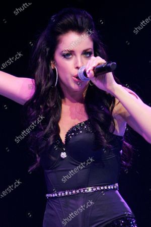 Jadyn Douglas (previously known as Jadyn Maria) performs during Macy's Glamorama held at the Chicago Theater in Chicago, IL. on August 21, 2009.