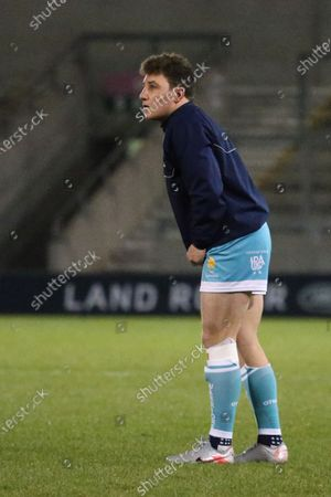 Worcester Warriors Duncan Weir warms up prior to the Gallagher Premiership Rugby match between Sale Sharks and Worcester Warriors at the AJ Bell Stadium, Eccles