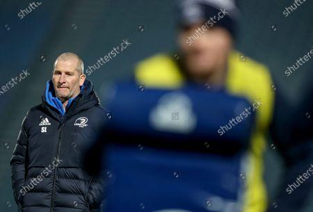 Leinster vs Ulster. Leinster senior coach Stuart Lancaster before the game