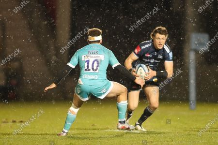 Sam James of Sale Sharks during the Gallagher Premiership Rugby match between Sale Sharks and Worcester Warriors at the AJ Bell Stadium, Eccles