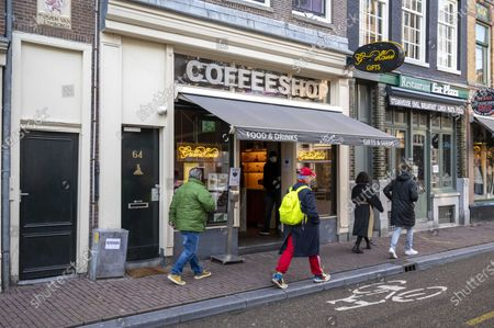 Exterior of a coffee shop in the city center, in Amsterdam, the Netherlands, 08 January 2021. According to a plan submitted on 08 January 2021 by Amsterdam Mayor Femke Halsema, the Public Prosecution Service and the police, foreign tourists will no longer be welcome in Amsterdam coffee shops in the long term, and only residents of the Netherlands will be admitted.
