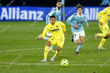 "Carlos Bacca (Villarreal) - Football / Soccer : Spanish ""La Liga Santander"" match between RC Celta de Vigo 0-4 Villarreal CF at the Estadio Abanca Balaidos in Vigo, Spain."