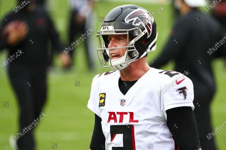 Atlanta Falcons quarterback Matt Ryan (2) warms up prior to an NFL football game against the Tampa Bay Buccaneers, in Tampa, Fla