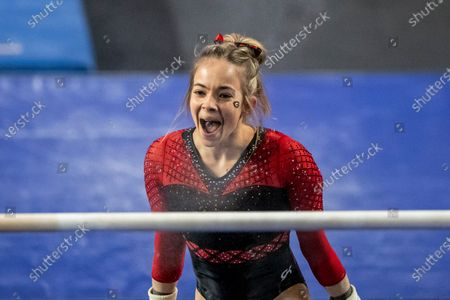 Georgia gymnast Marissa Oakley competes against Missouri during an NCAA gymnastics meet on in Athens, Ga