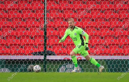 Kasper Schmeichel #1 of Leicester City