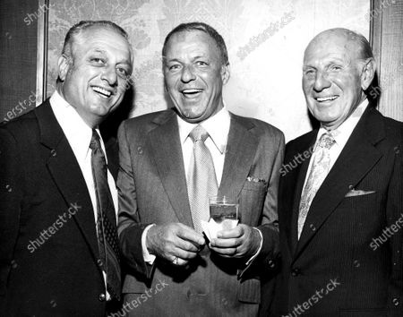 Frank Sinatra With Tommy Lasorda And Leo Durocher