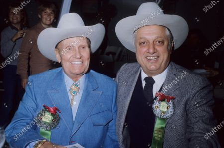 Tommy Lasorda with Gene Autry