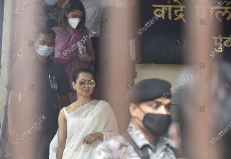 Editorial image of Kangana Ranaut Arrives At Bandra Police Station To Record Statement, Mumbai, Maharashtra, India - 08 Jan 2021