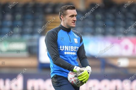 Stock Image of Portrait of Preston North End goalkeeper (on loan from Leicester City) Daniel Iversen (22) during the FA Cup match between Wycombe Wanderers and Preston North End at Adams Park, High Wycombe