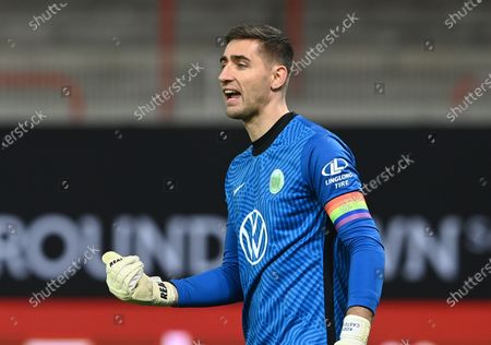 Wolfburg's goalkeeper Koen Casteels  during the German Bundesliga soccer match between 1. FC Union Berlin and VfL Wolfsburg in Berlin, Germany, 09 January 2021.