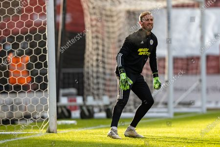 Leicester City Goalkeeper Kasper Schmeichel (1) warms up before the FA Cup match between Stoke City and Leicester City at the Bet365 Stadium, Stoke-on-Trent