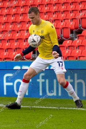 Stoke City Defender Ryan Shawcross(17) warms up before the FA Cup match between Stoke City and Leicester City at the Bet365 Stadium, Stoke-on-Trent