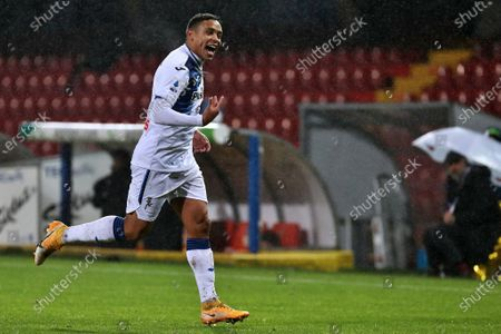 Luis Muriel (Atalanta BC) celebrates after scoring a goal