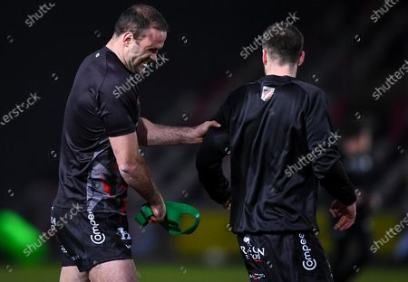 Dragons vs Ospreys. Dragons' Jamie Roberts during the warm-up