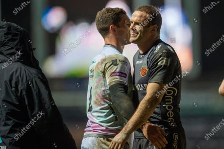 Jamie Roberts of Dragons and George North of Ospreys