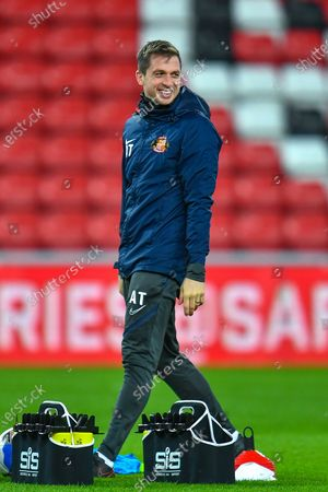 Sunderland AFC first team coach Andrew Taylor during the warm up before the EFL SkyBet League 1 match between AFC Sunderland and Hull City at the Stadium Of Light, Sunderland