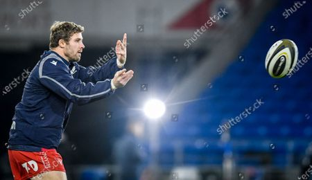 Cardiff Blues vs Scarlets. Scarlets' Leigh Halfpenny during the warm-up