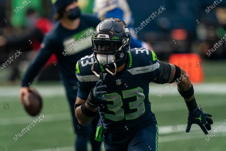 Seattle Seahawks defensive back Jamal Adams is pictured during warmups before an NFL wild-card playoff football game against the Los Angeles Rams, in Seattle. The Rams won 30-20