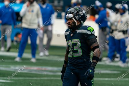 Seattle Seahawks defensive back Jamal Adams is pictured during the first half of an NFL wild-card playoff football game against the Los Angeles Rams, in Seattle. The Rams won 30-20