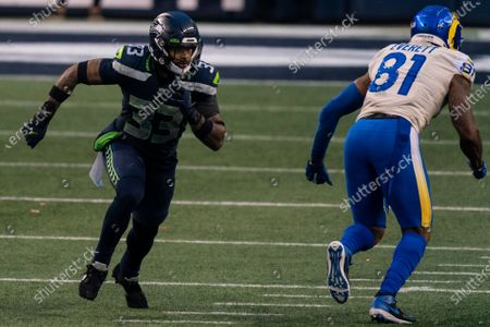 Stock Image of Seattle Seahawks defensive back Jamal Adams is pictured during the second half of an NFL wild-card playoff football game against the Los Angeles Rams, in Seattle. The Rams won 30-20