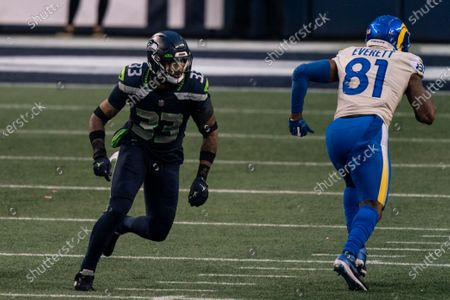 Stock Picture of Seattle Seahawks defensive back Jamal Adams is pictured during the second half of an NFL wild-card playoff football game against the Los Angeles Rams, in Seattle. The Rams won 30-20