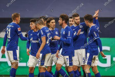 Alessandro Schöpf (FC Schalke 04), Amine Harit (FC Schalke 04), Benjamin Stambouli (FC Schalke 04), Mark Uth (FC Schalke 04), Matija Nastasic (FC Schalke 04), Matthew Hoppe (FC Schalke 04)