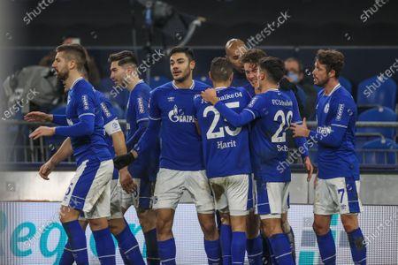 Matija Nastasic (FC Schalke 04), Ozan Kabak (FC Schalke 04), Amine Harit (FC Schalke 04), Alessandro Schöpf (FC Schalke 04), Mark Uth (FC Schalke 04)