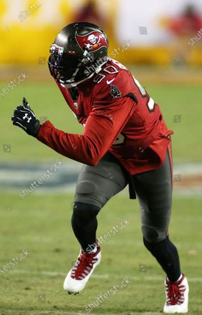 Tampa Bay Buccaneers outside linebacker Jason Pierre-Paul (90) in action during an NFL wild-card playoff football game against the Washington Football Team, in Landover, Md