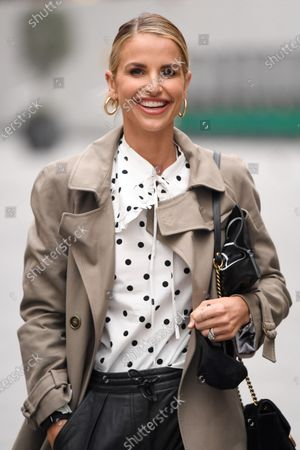 Vogue Williams at Global Radio Studios for her show in Heart FM.