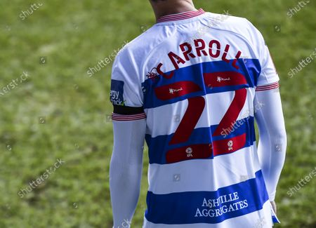 Commercial and Marketing Rear shirt detail of Tom Carroll of QPR