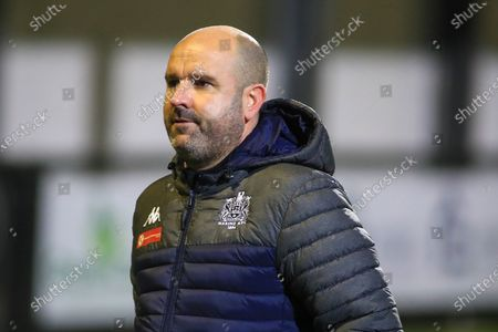 Marine manager Neil Young during the The FA Cup match between Marine and Tottenham Hotspur at Marine Travel Arena, Great Crosby