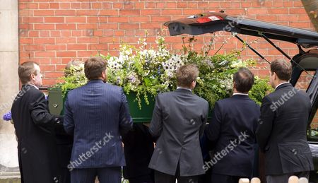 Stock Picture of Funeral of Christopher Cazenove
