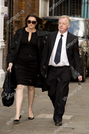 Les Dennis with his fiancee Claire Nicholson