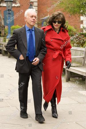 Nickolas Grace and Joan Collins