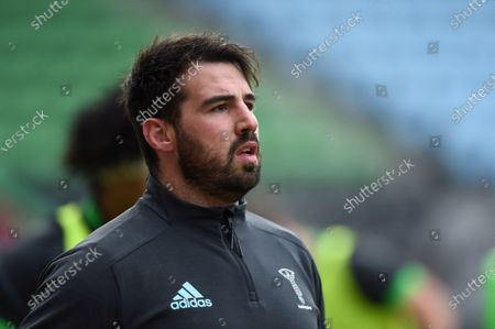 Scott Baldwin of Harlequins looks on during the pre-match warm-up