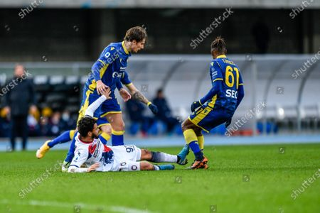 Foul of Emmanuel Riviere (FC Crotone)