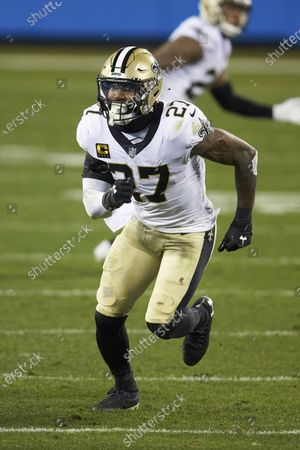 New Orleans Saints safety Malcolm Jenkins (27) during an NFL football game against the Carolina Panthers, in Charlotte, N.C