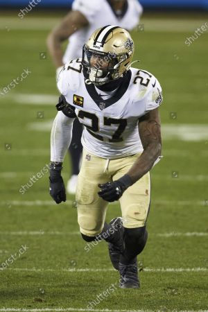 Stock Photo of New Orleans Saints safety Malcolm Jenkins (27) during an NFL football game against the Carolina Panthers, in Charlotte, N.C